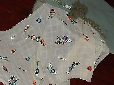 """ON SALE 56"""" Antique Hand embroidered table runner KENAR Floral table runner Shab"""