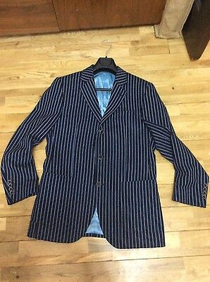 mod blazer boating jacket striped 3 button 38 40 chest