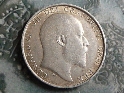 shilling coin 1902 high grade great toning