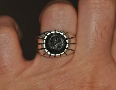 Cleopatra Authentic Ancient Bronze Coin 925 Sterling Silver Vintage Ring Sz 11