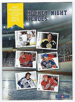 2016 Canada Post Hockey Night Heroes NHL Detailed 32 pg. Catalogue NM.
