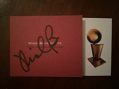 "MICHAEL BAIAMONTE autograph MIAMI HEAT ""the VOICE"" business card signed"