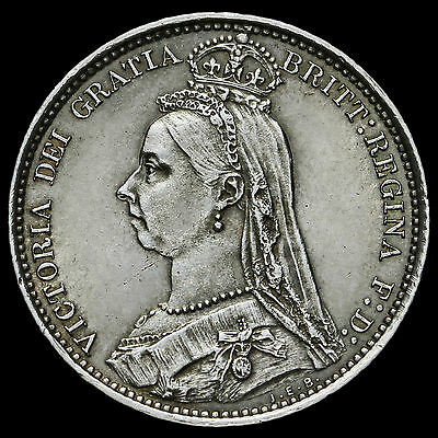 1888 Queen Victoria Jubilee Head Silver Sixpence – G/EF #2