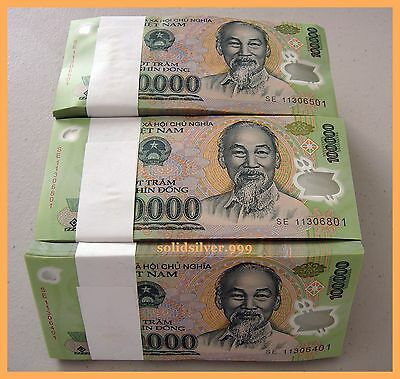 10 X 100,000 Vietnam Currency Banknotes Notes Dong Money, UNCIRCULATED