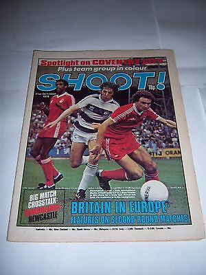 Shoot! Football Magazine 21/10/78 - Nottingham Forest / Qpr / Coventry City