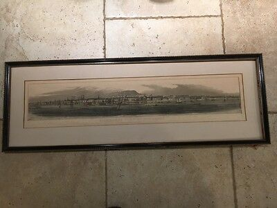 AN ORIGINAL19th ARCHITECTURAL PRINT PANORAMIC VIEW OF MONTREAL. CANADA