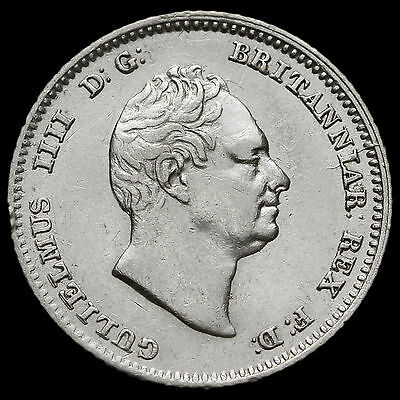 1836 William IV Milled Silver Fourpence / Groat – GVF