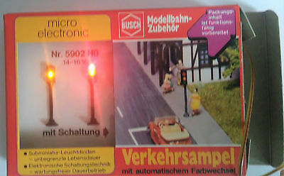 Working fully sequenced traffic light set Busch 5902