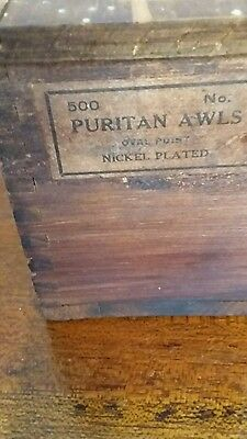 Antique Puritan Awl Tool Box