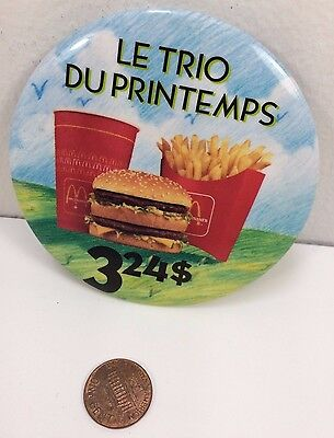 Vintage Mcdonalds Spring Trio Canadian button pinback badge collectible pin