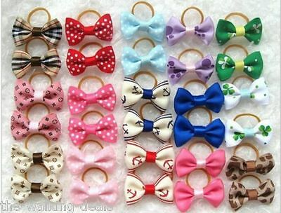 Dog & Puppy Hair Bands Top Knot Grooming Bows Dog Hairclips Accessory