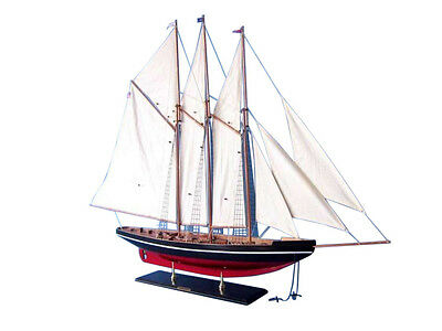"Atlantic 50"" - Wooden Model Sail Boat - Large Model Sailing Boat - Yacht Model"