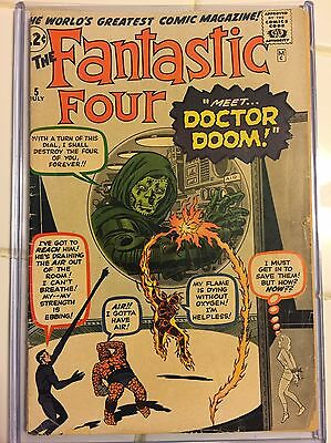 Fantastic Four 5, First Appearance Of Doctor Doom, G/VG Condition At Lowest
