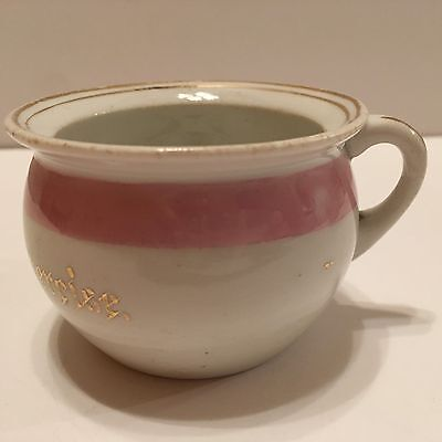 Victorian Miniature Porcelain Chamber Pot Made In Germany Morning Exercise 31/2""