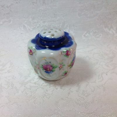 Antique/Vtg Porcelain Sugar/Spice Shaker/Muffineer - Hand Painted