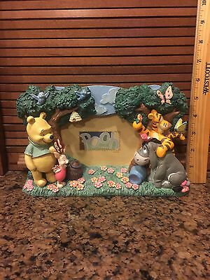 Walt Disney World Winnie The Pooh And Friends Picture Frame Holds 3 X 5 Photo 3D