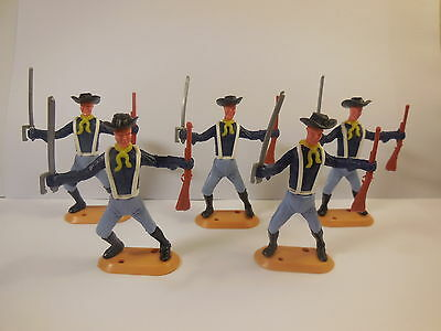 Vintage CHERILEA , 60 mm scale Plastic Swoppet, ACW FEDERAL 7th Cavalry