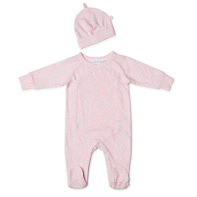NEW Marquise Pink Floral Studsuit & Beanie Set Size 000