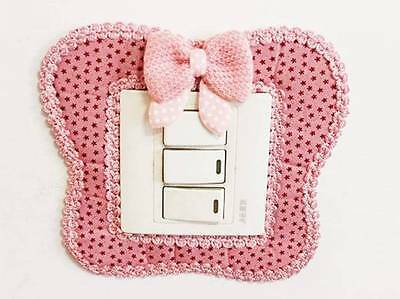Bowtie Switch Wall Stickers Light Switch Decor Decal Art Mural Baby Nursery Room