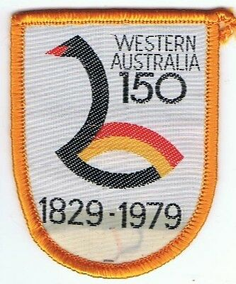 Western Australia 150yrs 1829-1979  Vintage Souvenir Woven Cloth Patch Badge