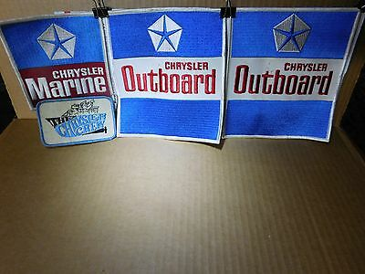 Vintage Chrysler Outboard Cloth Patches