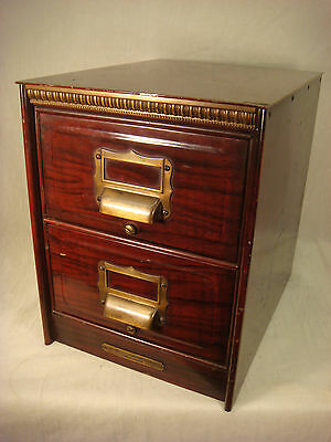 Art Metal Construction Co File Cabinet Metal Midcentury 2 Drawer Table Top Card