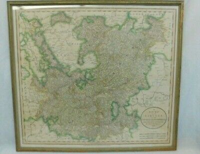 John Cary 1799 Antique Map Upper Lower Rhine Framed