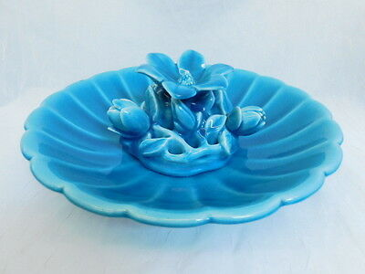 Rookwood Vintage Flower Frog With Bowl 1926 1928 Water Lily Blue Large Signed