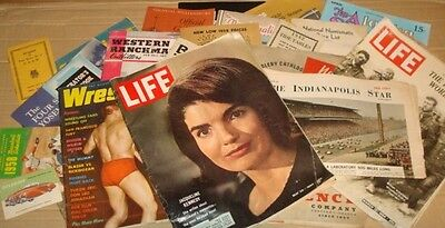 25 Vtg 30's-70's Lot Retro magazines, Catalogs, brochures and more
