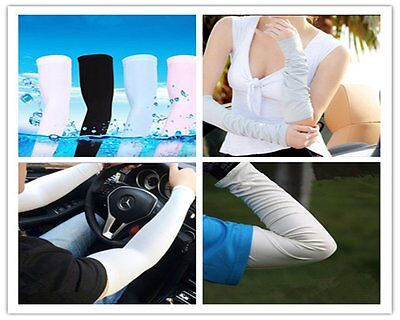 1pair Cooling Athletic Sport Skins Arm Sleeves Sun Protective UV Cover Golf