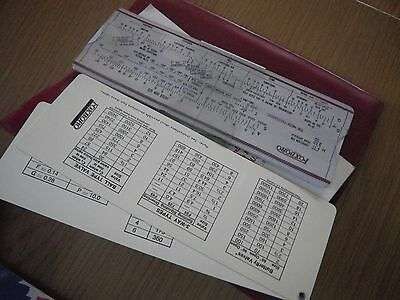 small Valve and slide rule in plastic case