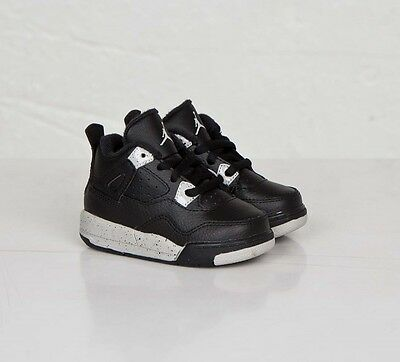 Toddler Nike Air Jordan IV 4 Retro Sneakers New, Black / White Oreo 707432-003