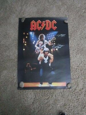- Ac/dc Signed Poster 1983 Brian Johnson Angus Young