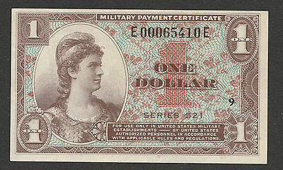 1954 Series 521 One Military Payment Certificate Dollar Sn E00065410E Position 9