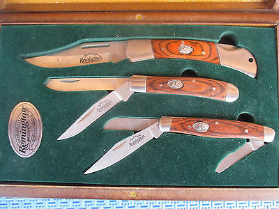 Remington 3 Knife Collection in Presentation Box, New,UNUSED