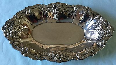 Ornate Silver Plate Oval Tray St. Regis by Wallace 13 X 7 3/4 inches Very Nice
