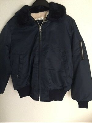 Vintage Men's Military Style Flight Jacket 100% Nylon Outer-Shell Size Small NOS