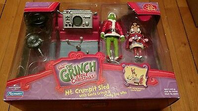 How the Grinch stole Christmas Mt. Crumpit Sled with Grinch and Cindy Lou Who NI