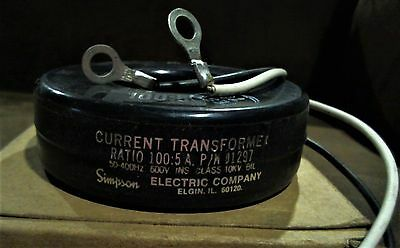 Simpson Electric 5 Amps Donut Current Transformer, P/N 01297  **NEW IN BOX**