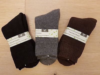 3 Pairs Men's Rabbit Wool Blend Winter Socks (W2026)