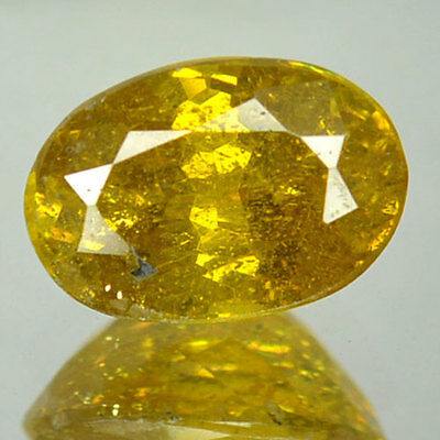 1.72 Cts Natural Sphalerite Canary Yellow Oval Cut Spain (FREE SHIPPING)