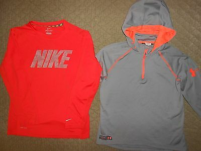 Under Armour Combine Training Boy's Pullover Hoodie & Shirt Youth Large 14/16