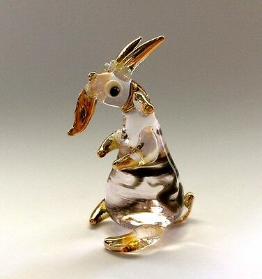 Goat Hand Blown Glass Miniature Animal Figurine Collectible Gift No.3 Home Decor
