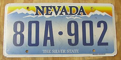 NEVADA SILVER STATE license plate  May 2013  80A 902
