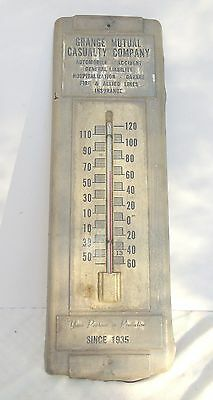 Vintage Advertising Metal Thermometer Grange Mutual Casualty Co Insurance Ohio?