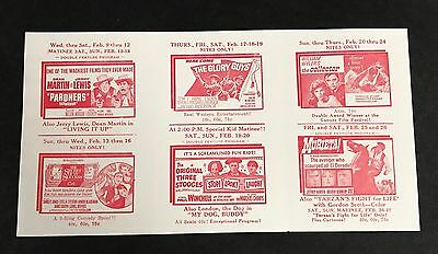 Vintage 1960s Three 3 Stooges Stop Look & Laugh Theater Line Up Pamphlet