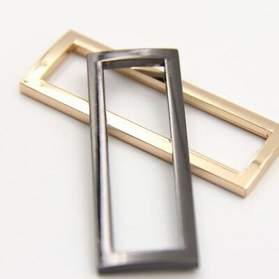 3 Pcs Rectangle Metal Square Ring Loops for Cloth Backbag Webbing Belt Buckle