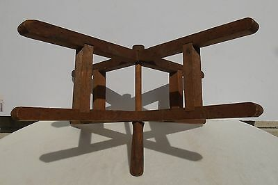 Antique Primitive Wood Hand Held Spinning Yarn Winder Swift