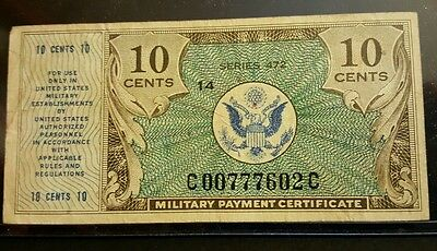 Series 472 1948-51 10 Cent Military Payment Certificate Note VF