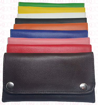 Leather Tobacco Pouch High Quality leather Soft Stylish Fully Lined Purse Zipped